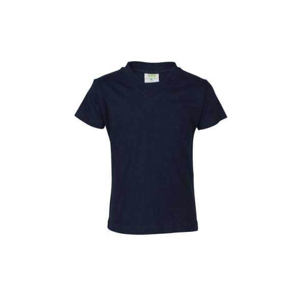 T-Shirt Mädchen, kurzarm, V-Kragen, Modell DFSG1