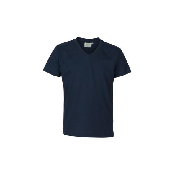T-Shirt Jungen, kurzarm, V-Kragen, Modell DFSB1